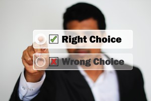 Right Choice vs Wrong Choice